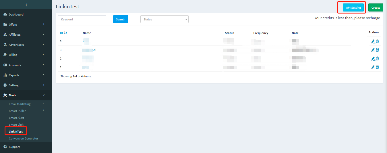 Linkintest API Setting2
