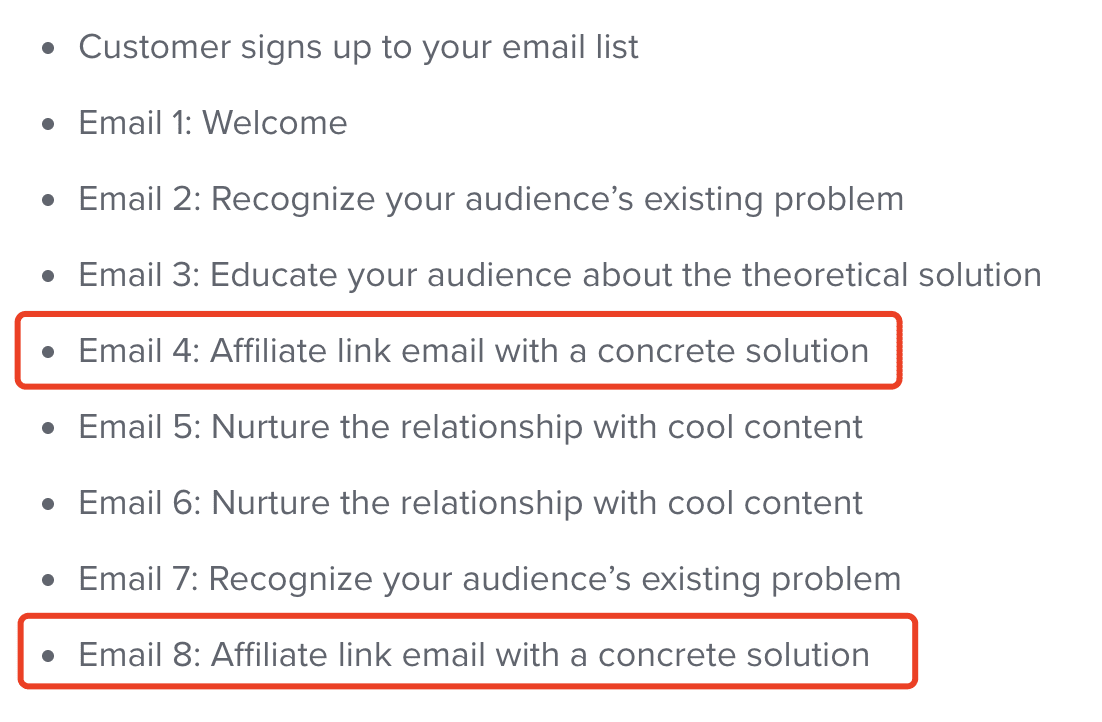 Affiliate Marketing Email Sequence