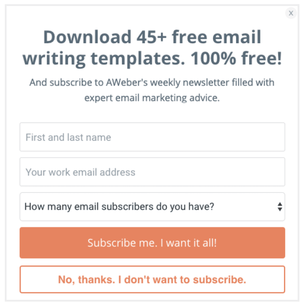 Email Opt-in Form