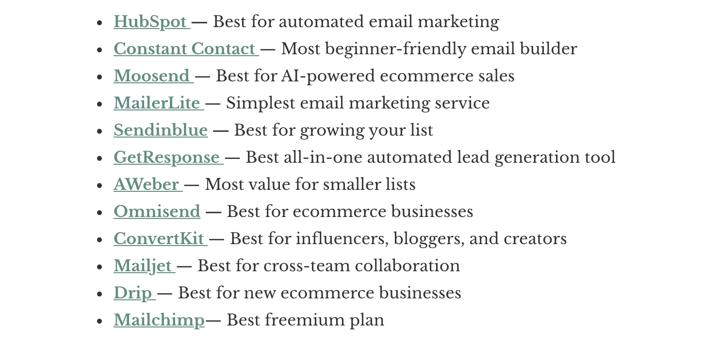 Top 12 Best Email Marketing Services