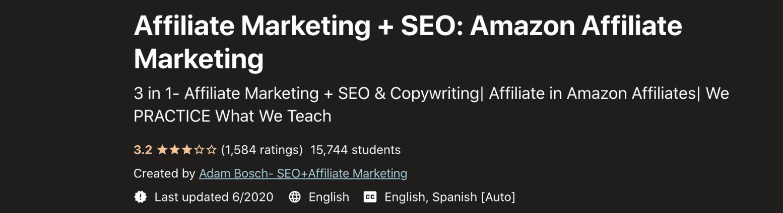 Affiliate Marketing + SEO- Amazon Affiliate Marketing
