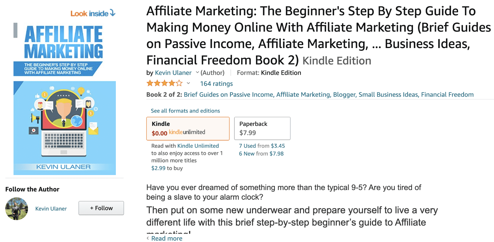 Affiliate Marketing by Kevin Ulaner